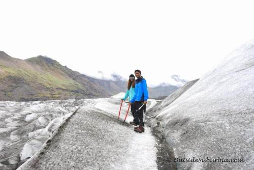 glacier trekking with teens