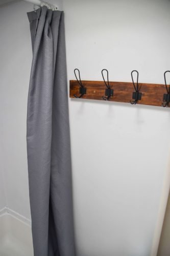 hooks in bathroom for RV