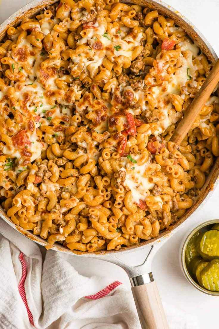 One Pot Cheeseburger Macaroni (30 Minute Meal)