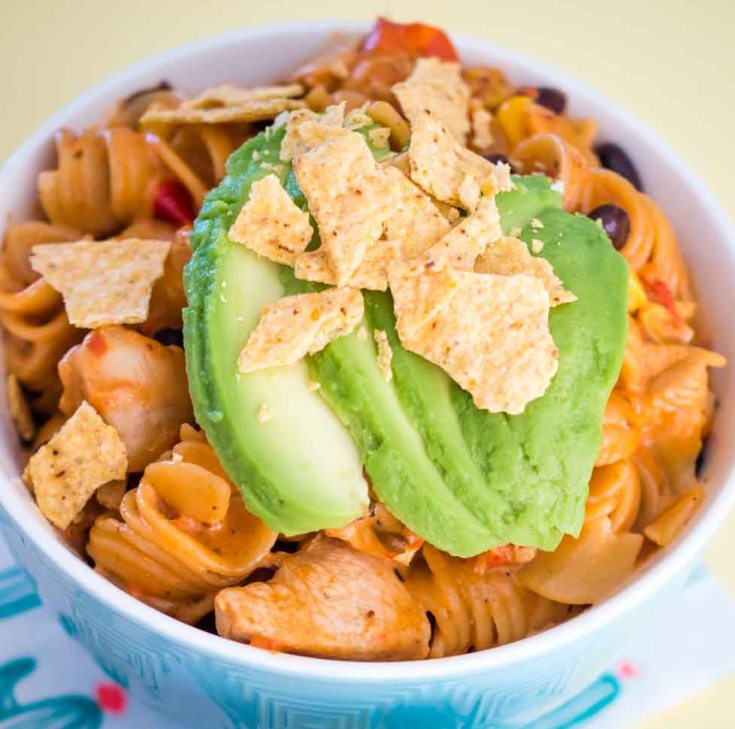 One pot mexican chicken pasta