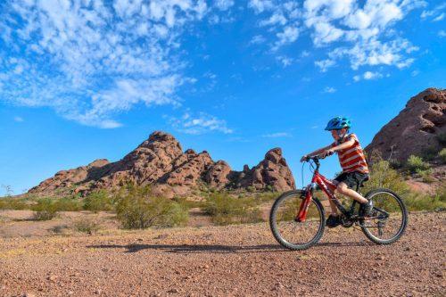 mountain biking papago park with kids
