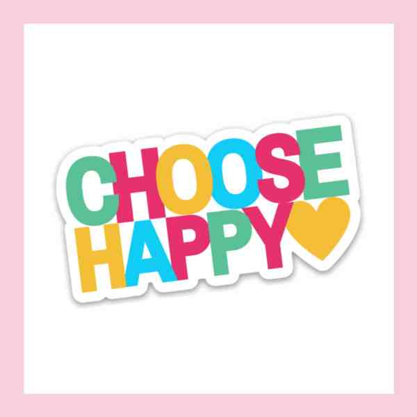 Choose happy sticker with a heart