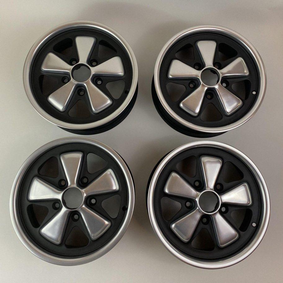 "No Reserve: 1973 15x6"" Fuchs Wheels for Porsche 911"