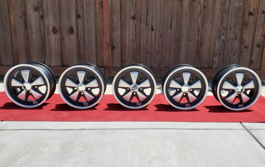 No Reserve: Five 1971 Fuchs 15×6″ Wheels for Porsche 911