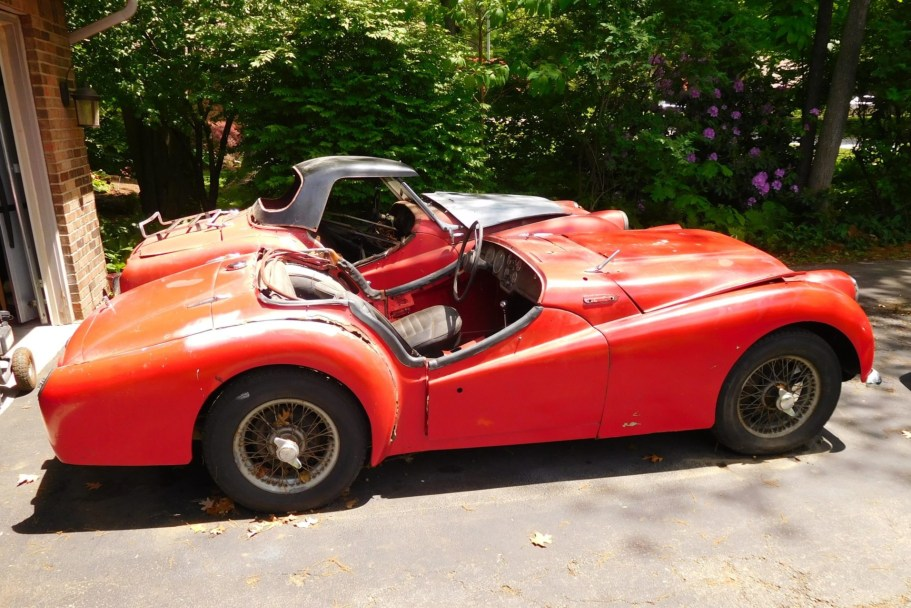 No Reserve: 41-Years-Owned 1959 Triumph TR3A Project w/Parts Car