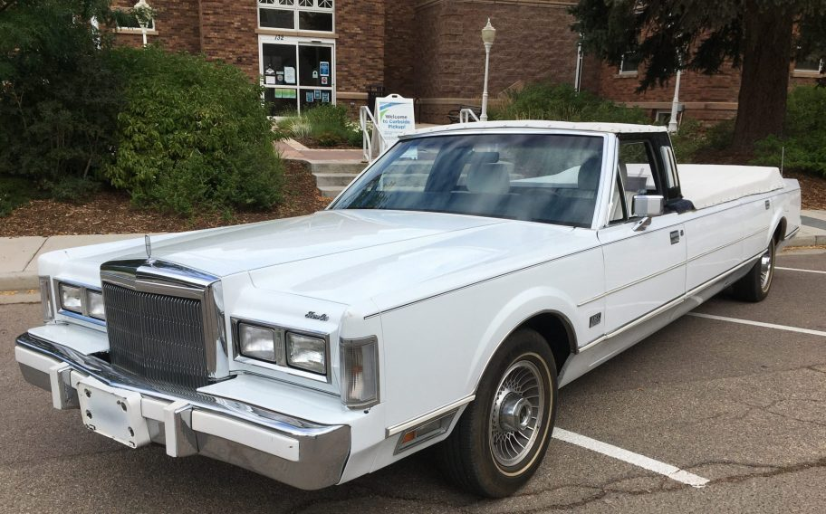 No Reserve: 1988 Lincoln Town Car Open Limousine