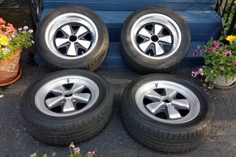 No Reserve: Fuchs 16×6″ and 8″ Wheels for Porsche 911