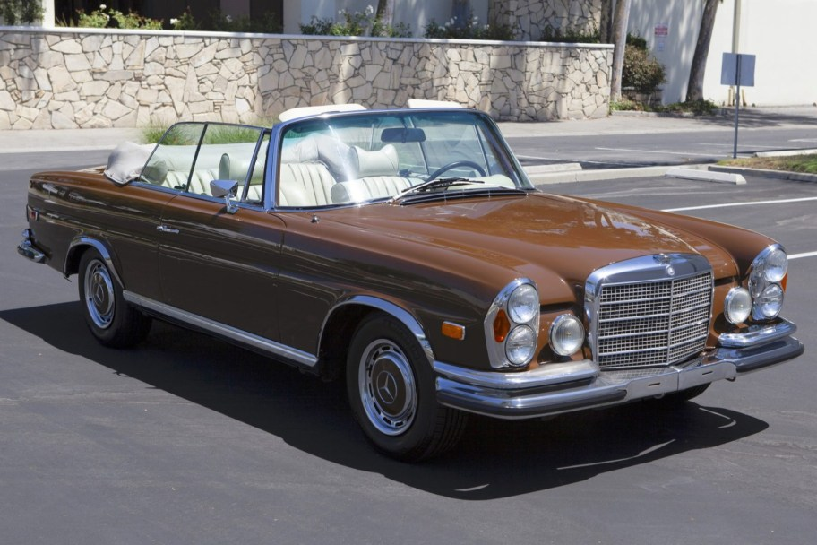 No Reserve: 1970 Mercedes-Benz 280SE 3.5 Convertible Conversion