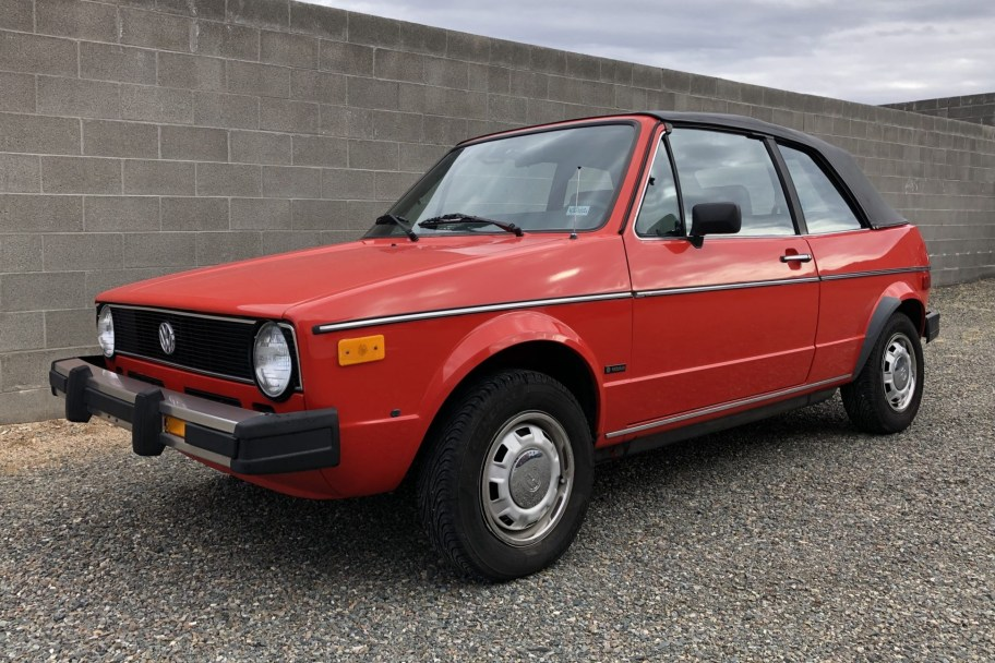 No Reserve: 1983 Volkswagen Rabbit Convertible 5-Speed