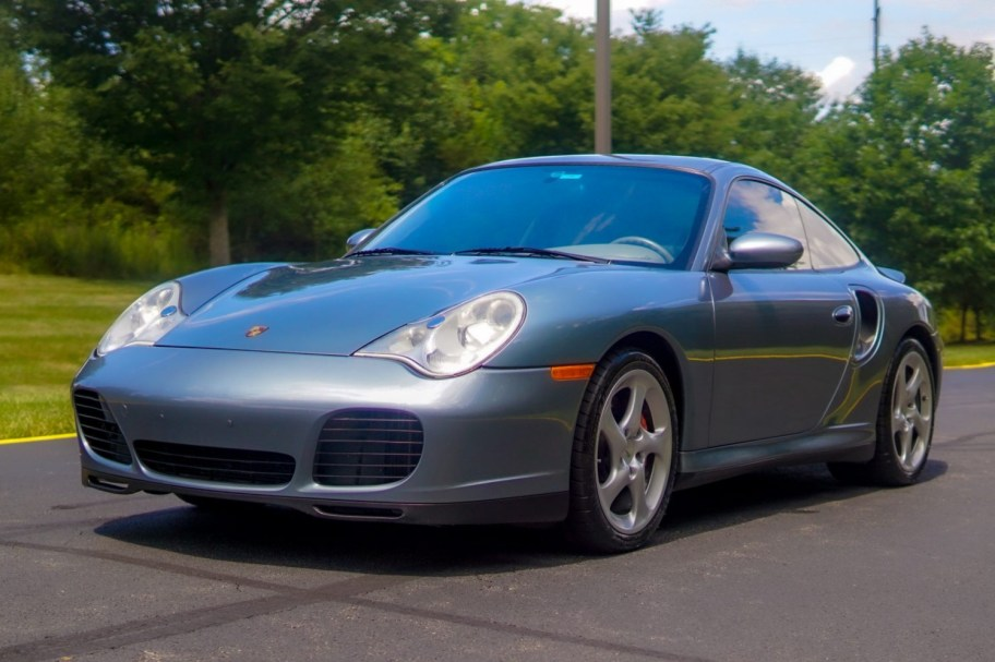Slate Blue Metallic 43k-Mile 2002 Porsche 911 Turbo 6-Speed
