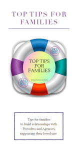 Top tips for families on building relationships with providers
