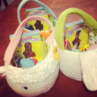 Fuzzy Easter Baskets
