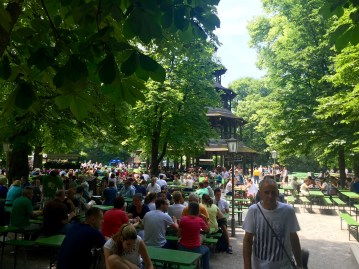 English Garden in Munich Beer Garden