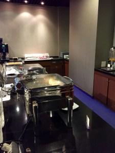 Thai Airways, Royal Silk Lounge food buffet