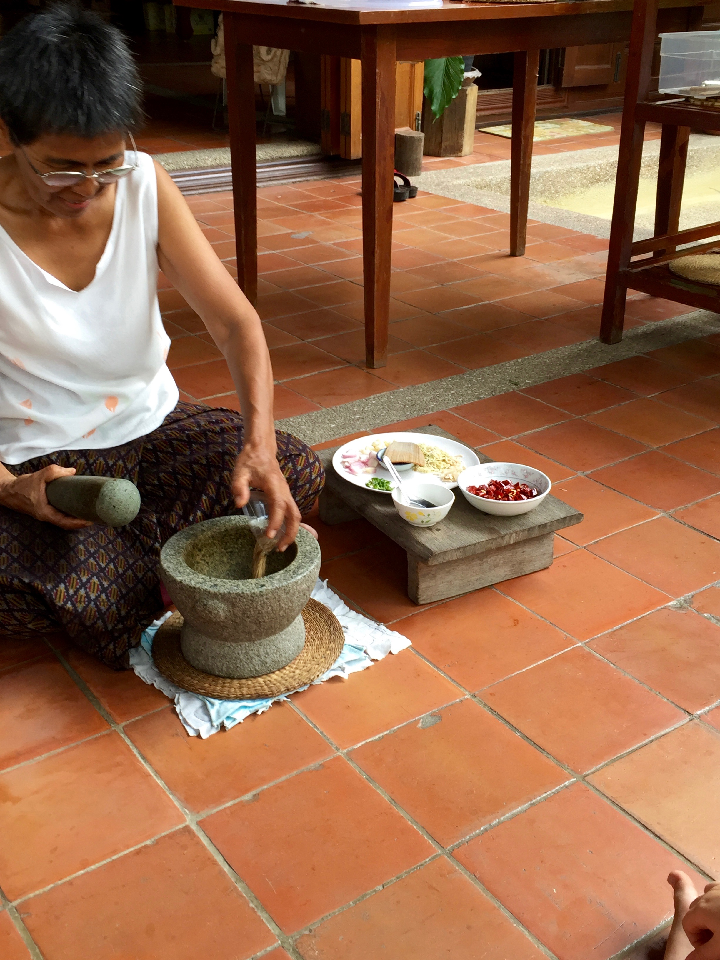 Mortar and Pestle, curry, Thai House, Thailand, Bangkok