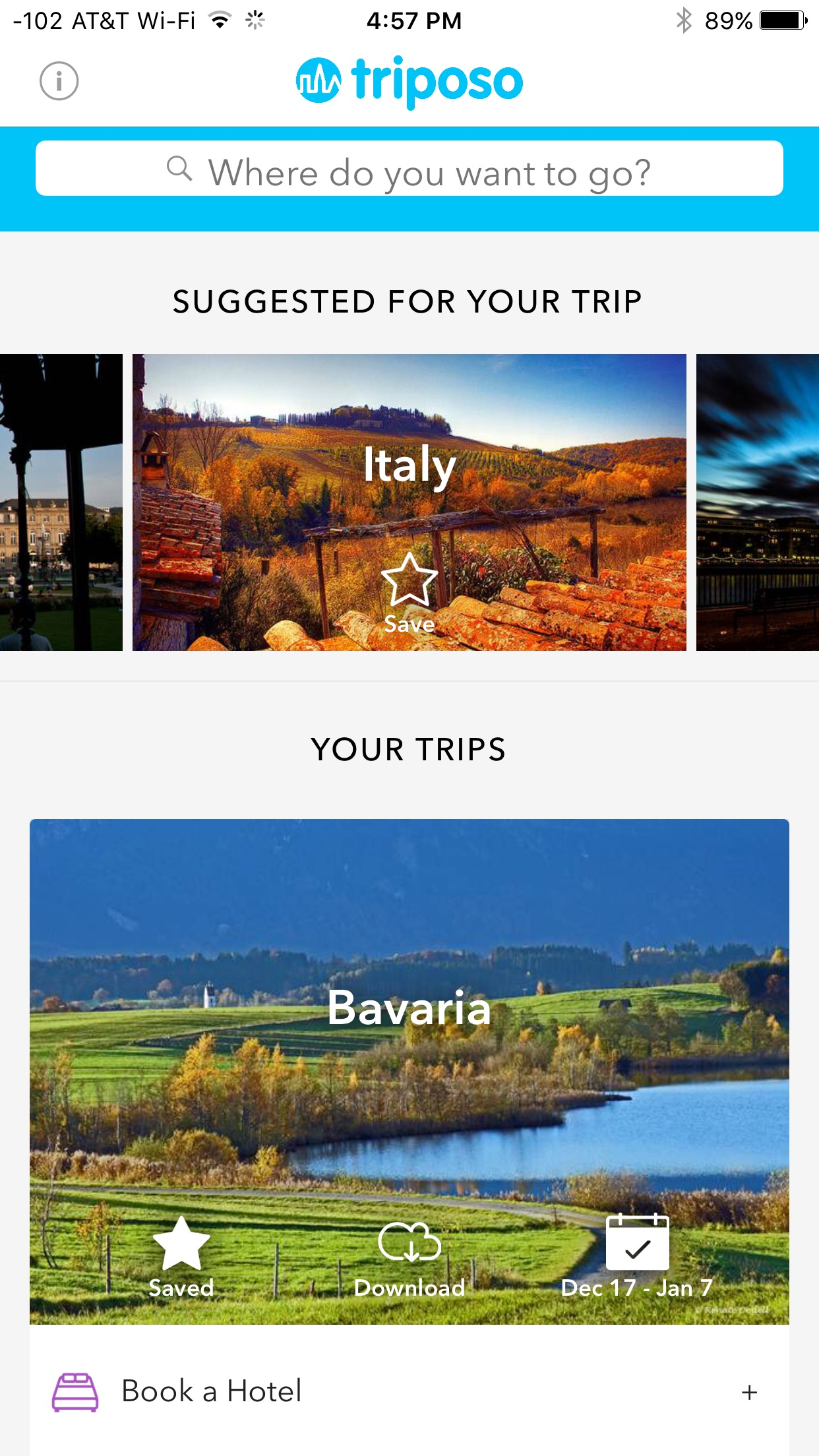 Tripso, Travel app, mobile travel app