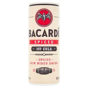 Bacardi Spiced Rum & Coke Pre-Mixed Cocktial Cans