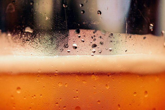 Craft Beer Close-up in a glass