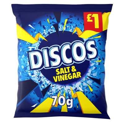 Discos Salt & Vinegar Flavoured Crisps