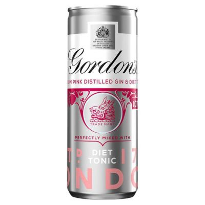 Gordon's Pink Gin & Tonic Pre-Mixed Cocktail Cans