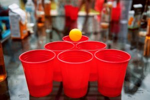 Beer Pong Being Played
