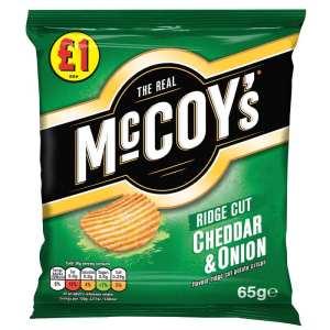 McCoy's Cheddar & Onion flavoured crisps