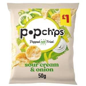 Popchips Sour Cream & Onion Crisps Packet