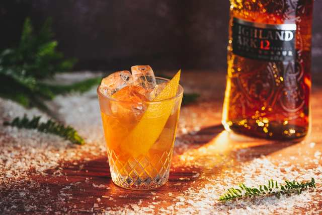 Salted Honey Old Fashioned Whisky Cocktail with Highland Park Whisky