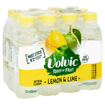 Volvic Touch Of Fruits Lemon & Lime Flavoured Water 500ml