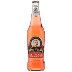 Henry Westons Vintage Rosé Cider Glass Bottle