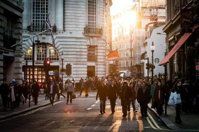 A busy Soho street