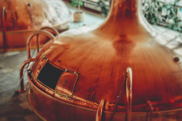 Copper Gin Distilling Tank