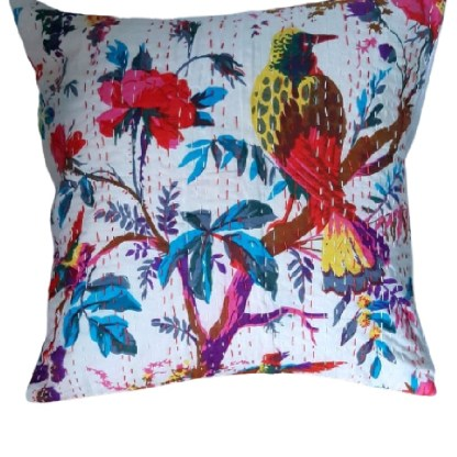 White bird cushion