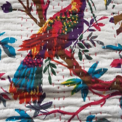 bird fabric close up