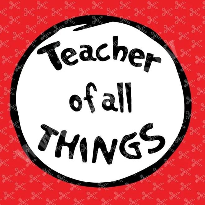 Teacher of All Things SVG