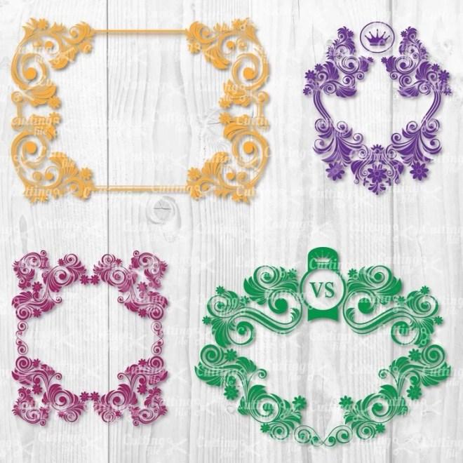 Decorative Floral Frame SVG