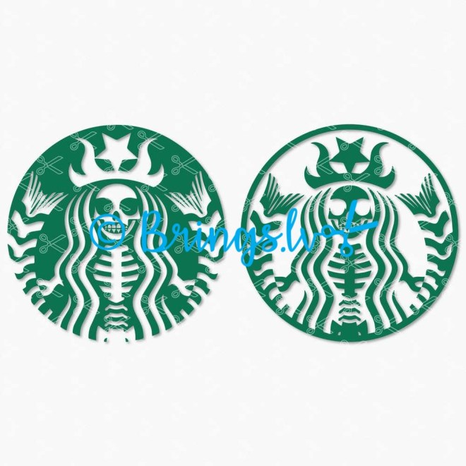 Starbucks Halloween svg Starbucks skeleton svg