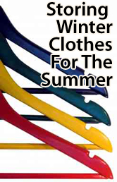 Storing winter clothes for the summer