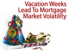 Vacation weeks can lead to mortgage market volatility