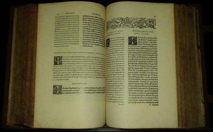 Novum Instrumentum omne, 1. Ausgabe von 1516 (Faksimile)
