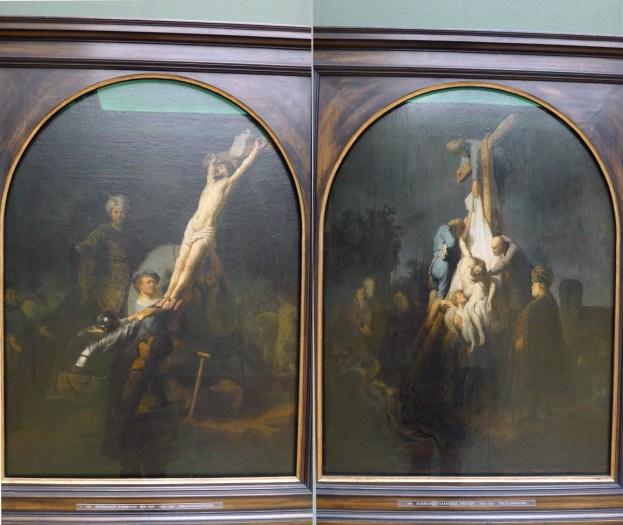 Kreuzaufrichtung und Kreuzabnahme Christi (1632-1646), Rembrandt (Harmensz. van Rijn). Alte Pinakothek, München