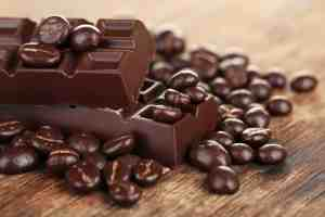 Dark chocolate and cocoa beans!