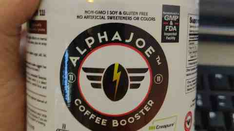 photo of can of alpha joe coffee booster