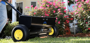 dropspreader 300x145 - Which lawn spreader is best for my job?