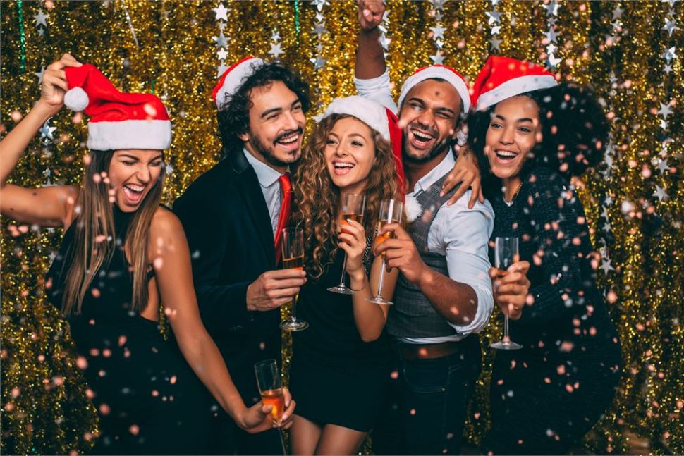 Christmas party at Brio Clapham. Clapham Christmas Party Bars.