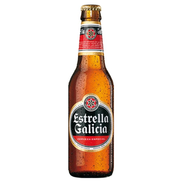 Estrella de Galicia bottles available for takeaway through our click and collect service at Brio Clapham. Order yours.
