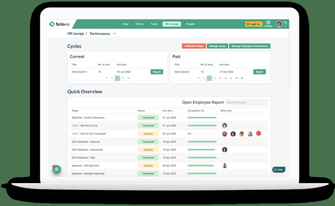 BrioHR Payroll Module - Sample View