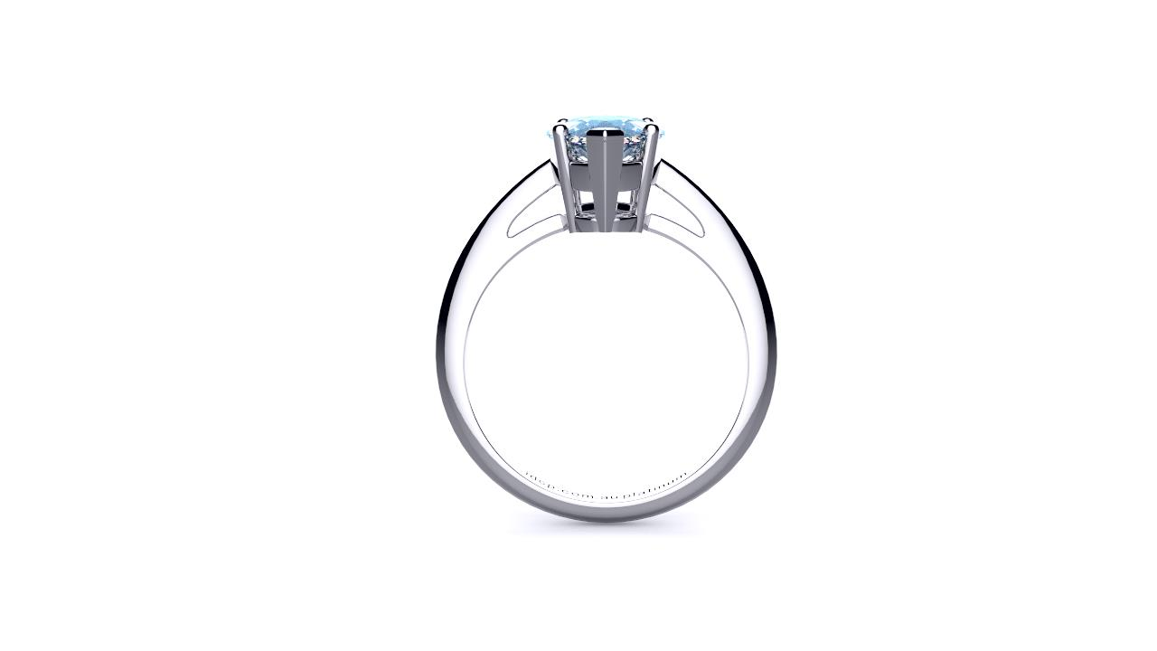 Brisbane diamond marquise solitaire engagement ring in white gold side