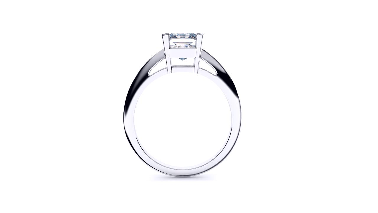 Brisbane diamond engagement ring radiant solitaire in platinum side view
