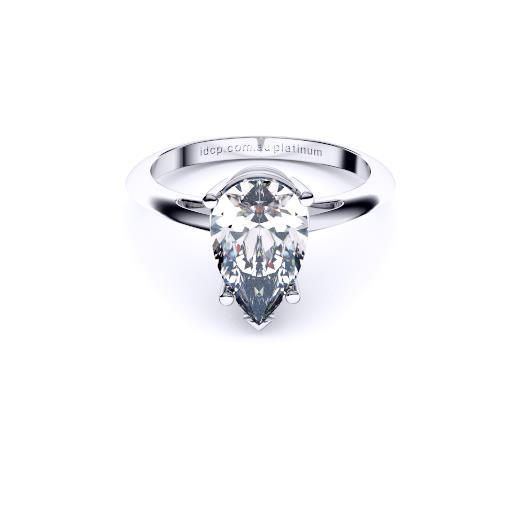 Brisbane diamond engagement ring pear solitaire
